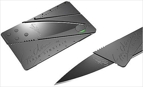 Нож кредитка - очень удобная вещь.
