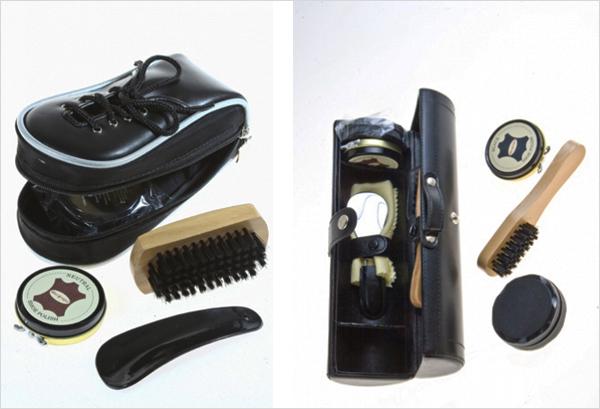 Аккуратный мужчина оценит комплект по уходу за обувью.