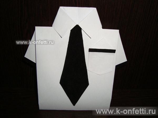 Оригами рубашка.