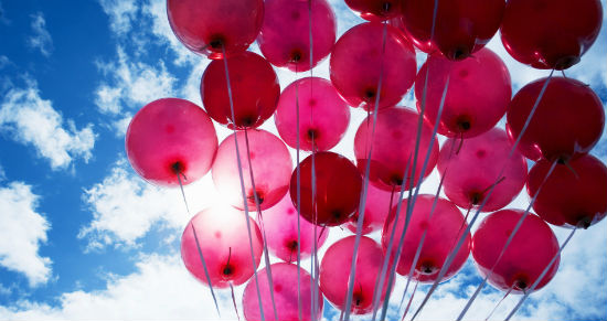 Воздушные шары идеально подойдут на выписку.