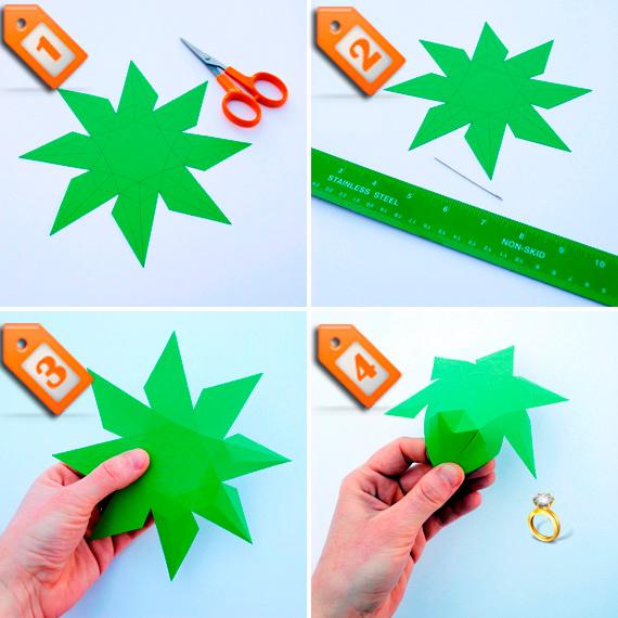 Как сделать бриллиант из бумаги.