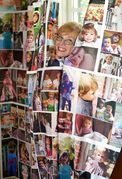Фотошторы с фотографиями внуков.
