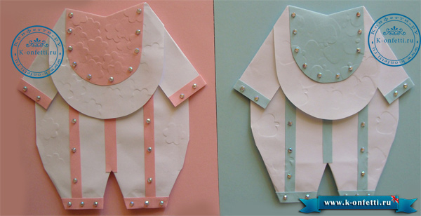 Боди из бумаги для девочки и мальчика.
