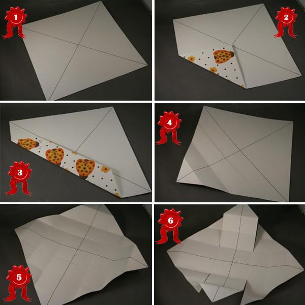 Как сделать коробочку оригами.