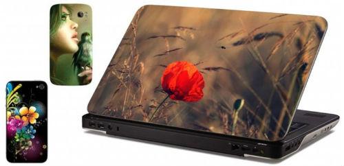 Ноутбук с эксклюзивным стикером.