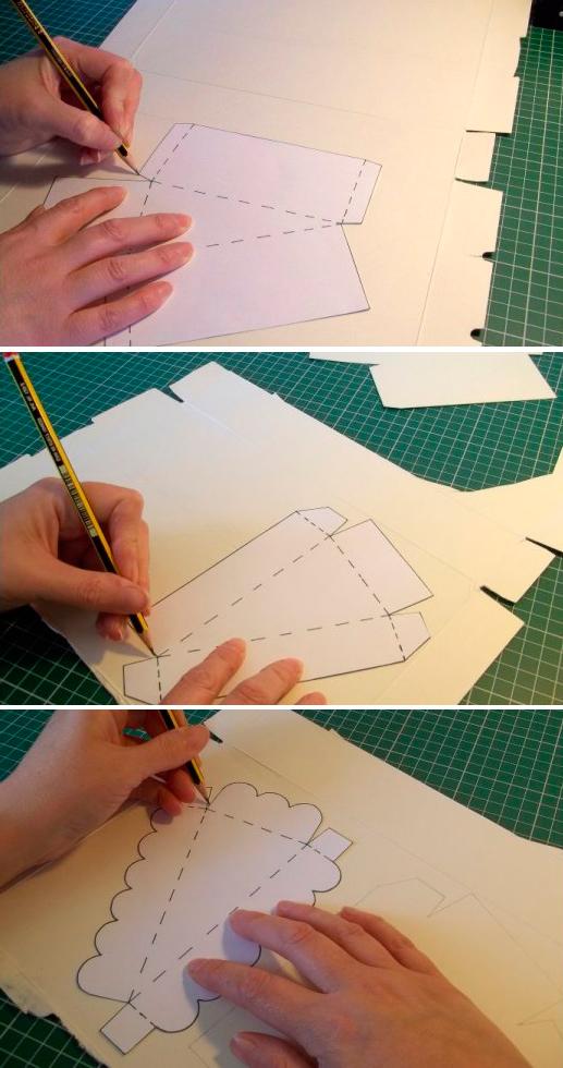 Обвести на плотную бумагу.