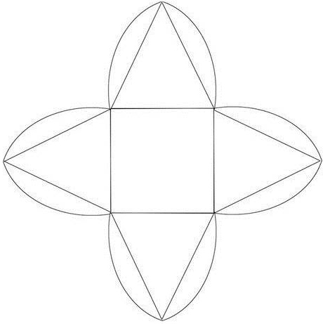 Коробочка пирамидка, шаблон.