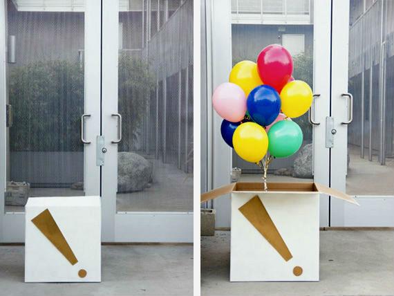 Сюрприз с воздушными шарами.
