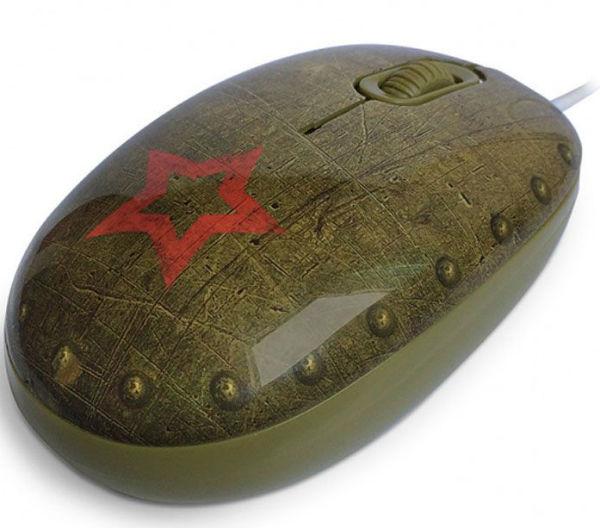 Компьютерная мышь в военной тематике.