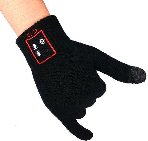 Блютус перчатки.