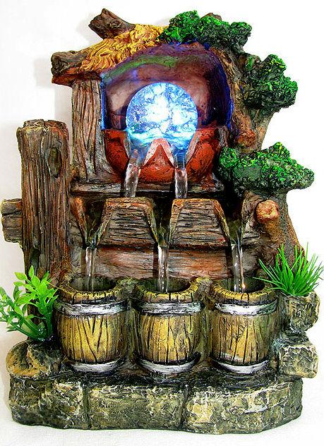 Комнатный фонтанчик с подсветкой - красиво и тематично.