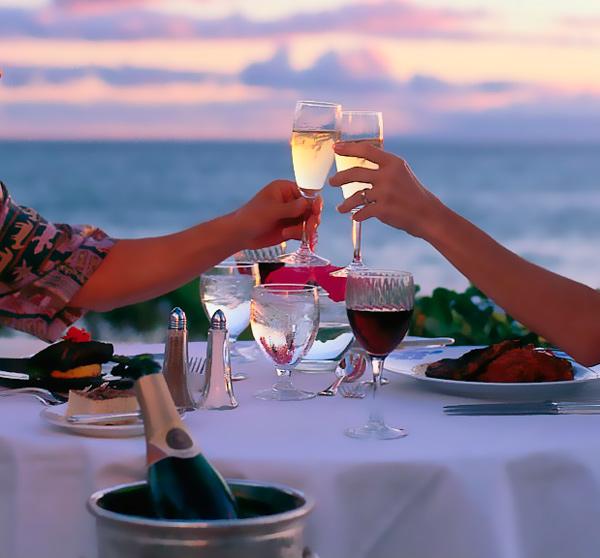 Ужин в ресторане - вот отличный подарок на 31 годовщину.