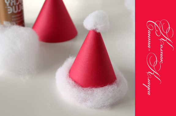 Ободок на голову с колпаком Санта-Клауса за 10 минут своими руками