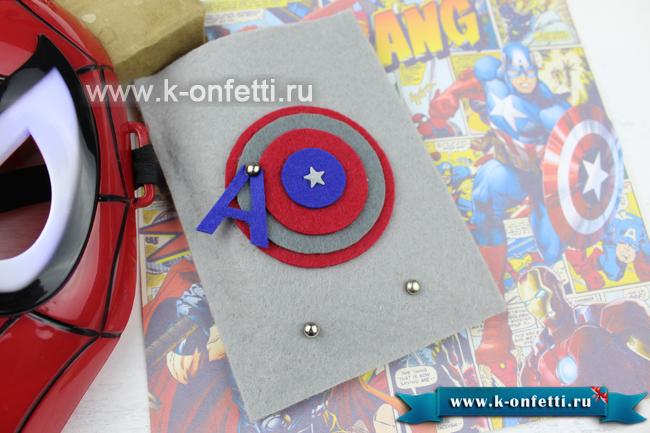Чехол для телефона в стиле Капитан Америка.