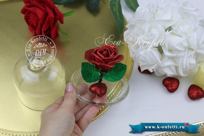 Роза под стеклянным куполом своими руками.