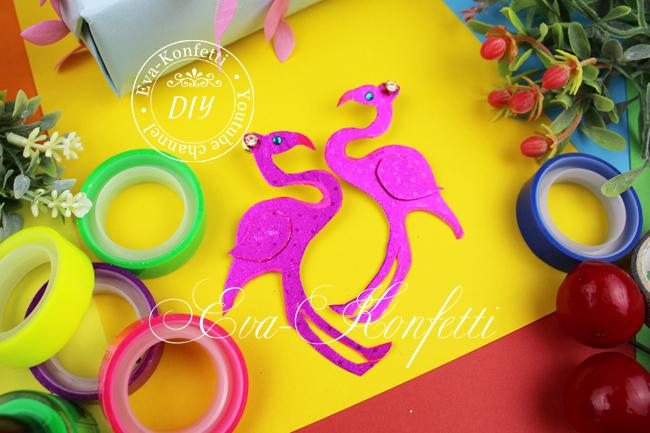 Серьги в видео фламинго своими руками.