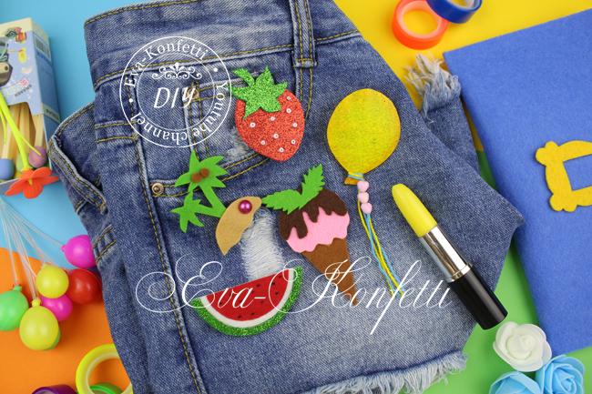 Как сделать летние значки на одежду или рюкзак своими руками