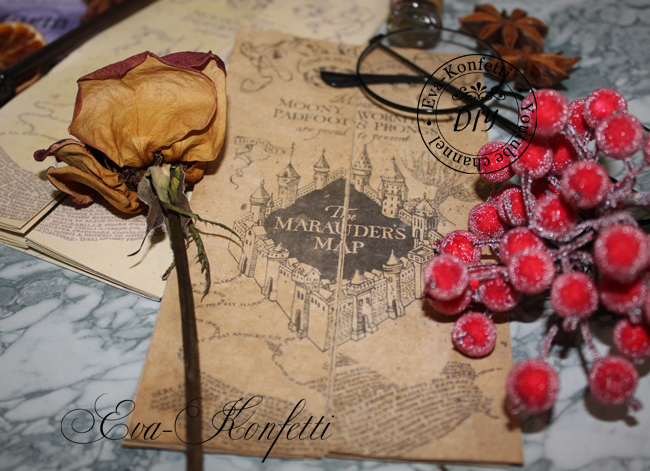 Карта Мародеров по мотивам мира Гарри Поттера своими руками (2 отличных варианта)