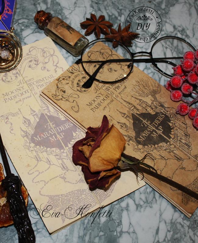 Карта Мародеров из Гарри Поттера своими руками.