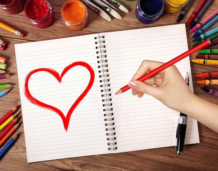 Как нарисовать валентинку на 14 февраля: лучшие примеры для начинающих и не только