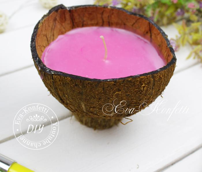 Свеча из кокоса.