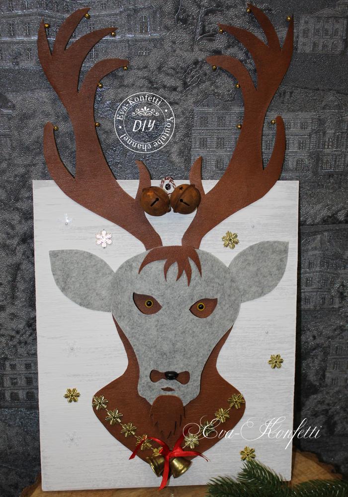 Объемная картина с оленем.