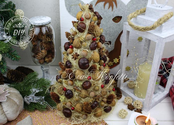 Настольная декоративная елка своими руками.