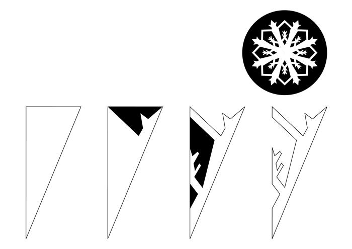 технике сухого вырезаем снежинки пошагово в картинках примеру веду