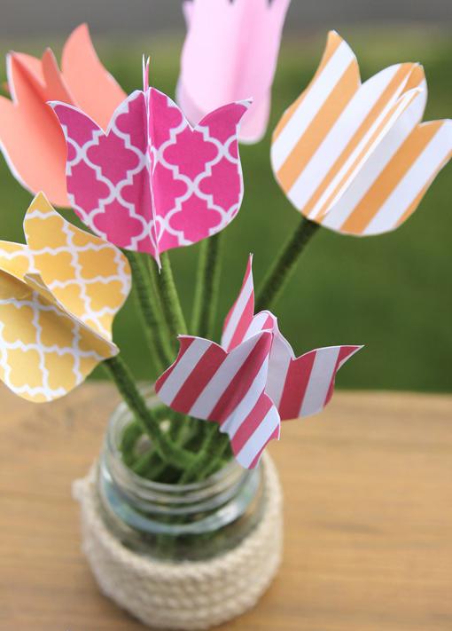 Как сделать тюльпаны своими руками из разных материалов (10 мастер-классов)