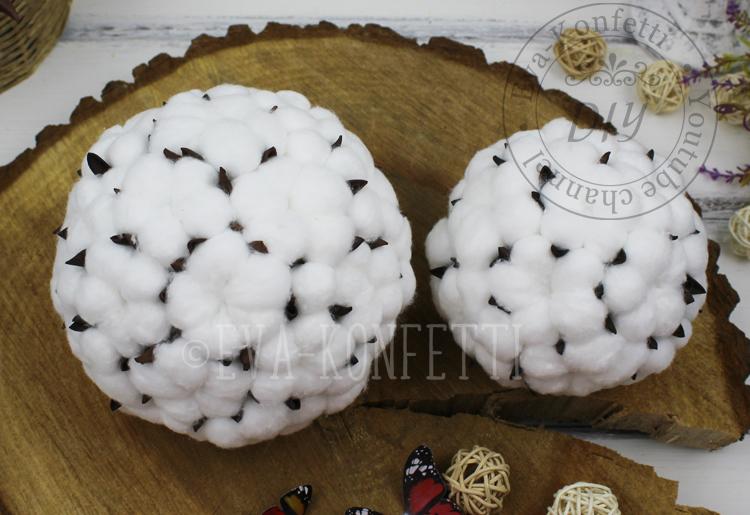 Как сделать декоративные шары из хлопка с нуля своими руками (мастер-класс в видео-формате)