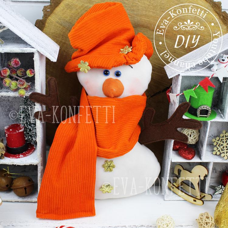 Как сшить Снеговика, сделать миниатюрную Ярмарку и оформить Новогодний венок своими руками (видео МК)