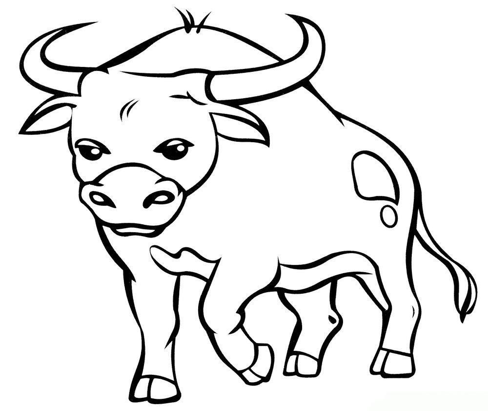 Вытынанки быков - трафареты для вырезания на окно (большая подборка шаблонов)